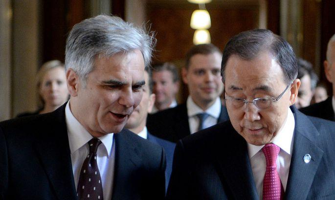 Archivbild: Faymann und der UN-Generalsekretär Ban