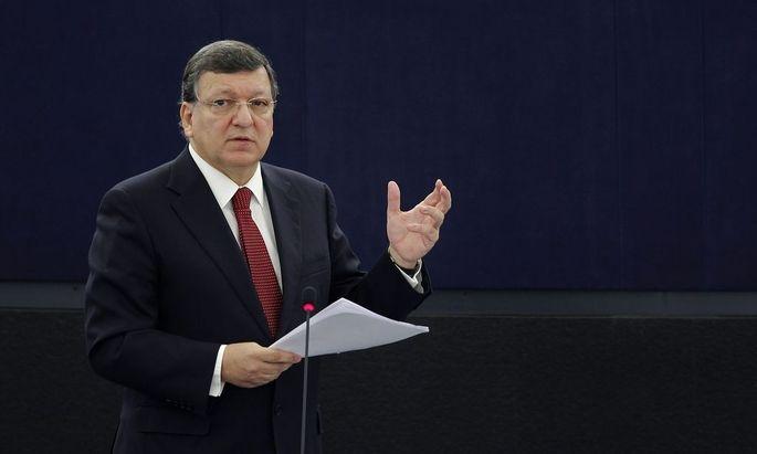 European Commission President Barroso addresses the European Parliament in Strasbourg