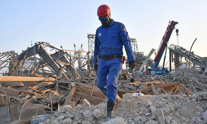 Die Hoffnung Überlebende unter den Trümmern in Beirut zu finden schwindet