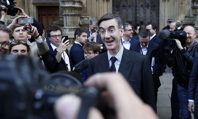Hinterbänkler mit scharfer Zunge: Jacob Rees-Mogg führte die innerparteiliche Rebellion gegen Premierministerin Theresa May an.