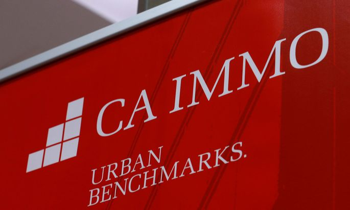 FILE PHOTO: The logo of Austrian property goup CA Immo is pictured during a news conference in Vienna