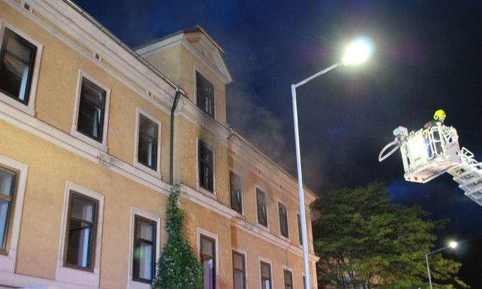 Brand in ehemaliger Hauswirtschaftschule in Leoben