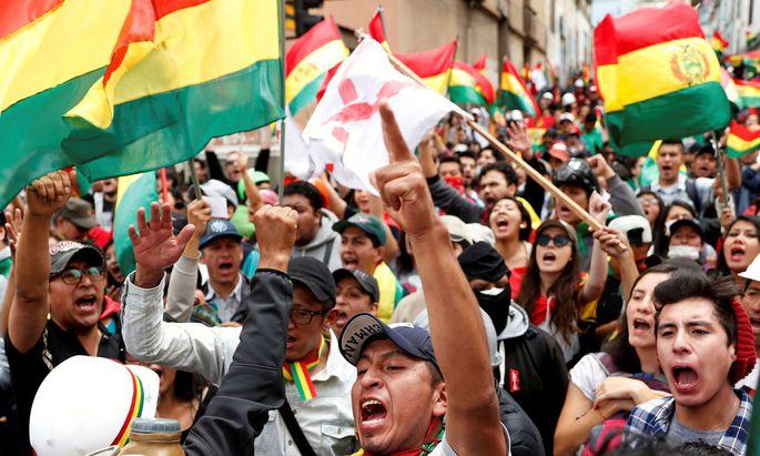 In Bolivien wird gegen Präsident Evo Morales protestiert