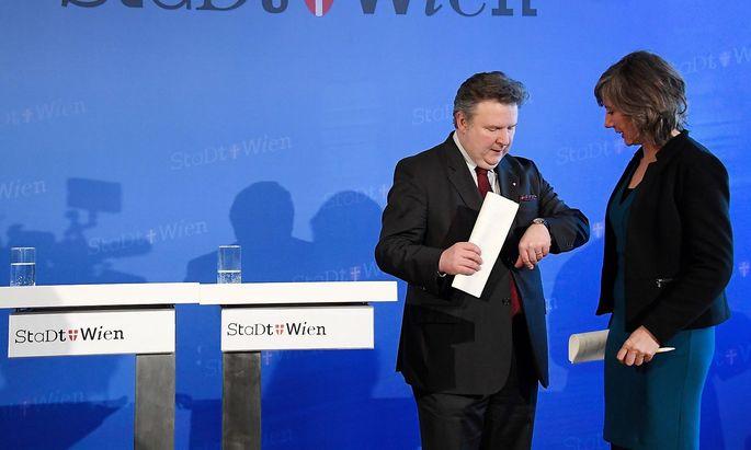 Bürgermeister Michael Ludwig und Koalitionspartnerin Birgit Hebein