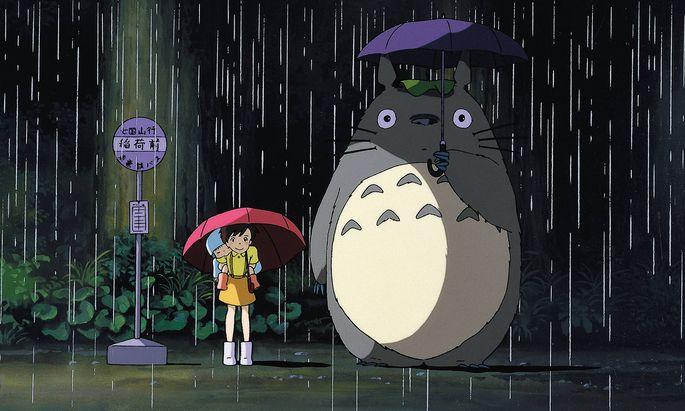 """Warten auf den Katzenbus – im Ghibli-Klassiker """"Mein Nachbar Totoro"""" (1988)."""