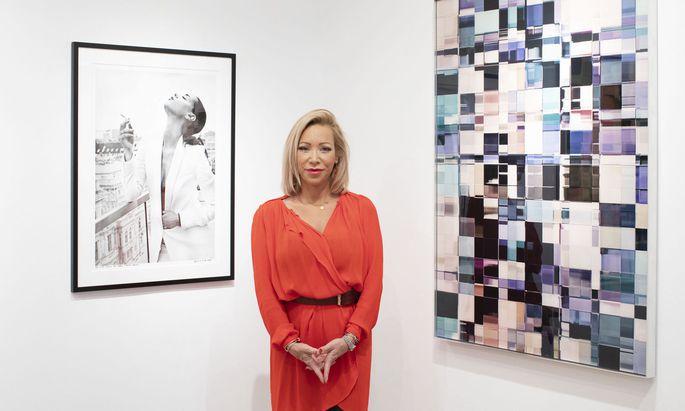 """Zwischen Fotografie und ihren """"Cubes"""": Sabine Wiedenhofer zeigt bei Kovacek Contemporary in der Spiegelgasse eine Auswahl ihrer Arbeiten."""