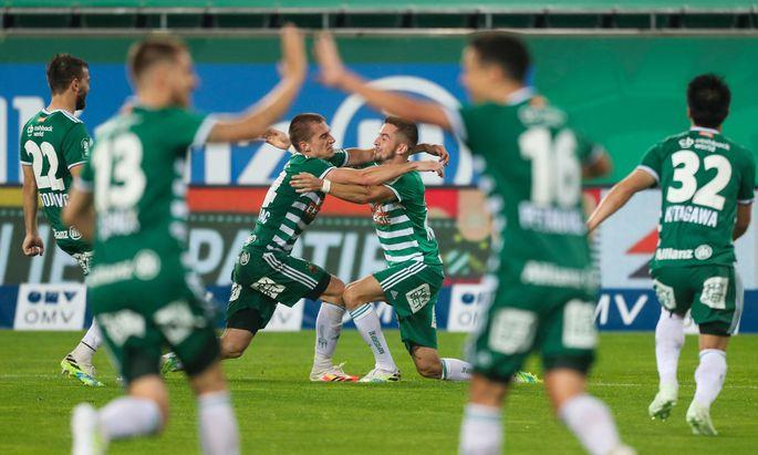 Eintracht bei Rapid: Nur eine Woche nach dem 2:7 gegen Salzburg fixierten die Hütteldorfer Rang zwei in der Meisterschaft.