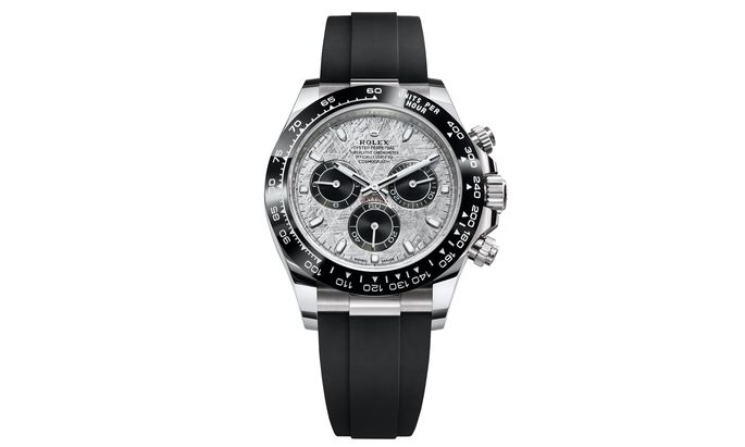 """Überirdisch. Im Rahmen der Watches & Wonders Geneva hat Rolex den """"Cosmograph Daytona"""" mit einem Meteoritenzifferblatt vorgestellt, das jeden Zeitmesser zu einem Unikat macht."""