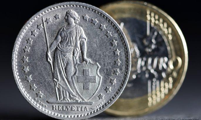 Schweizer Franken und Euro Beendigung des Franken Mindestkurses zum Euro