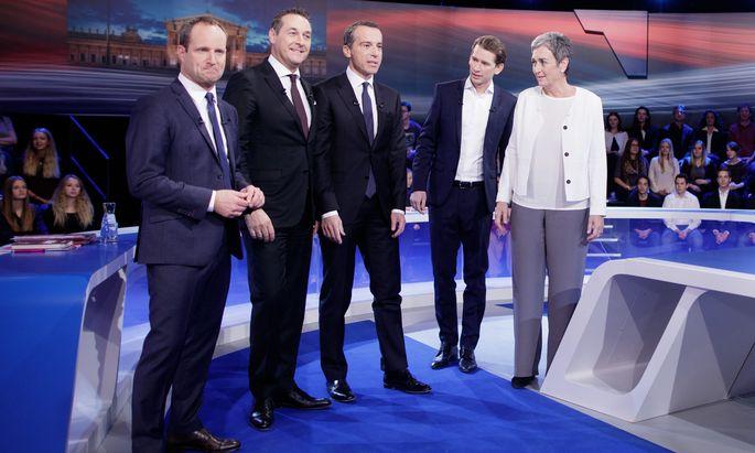 NR-WAHL: ORF-ELEFANTENRUNDE MIT SPITZENKANDIDATEN