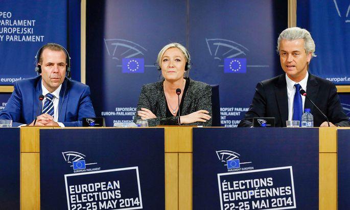 ´Harald Vilimsky, Marine Le Pen, Geert Wilders