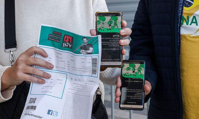 Im Bild die israelische Variante eines Grünen Covid-Passes, der eine Art Vorbild für die EU ist.