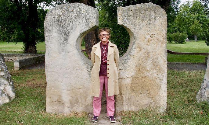 """Tina Zickler im """"Park der Ruhe und Kraft""""."""