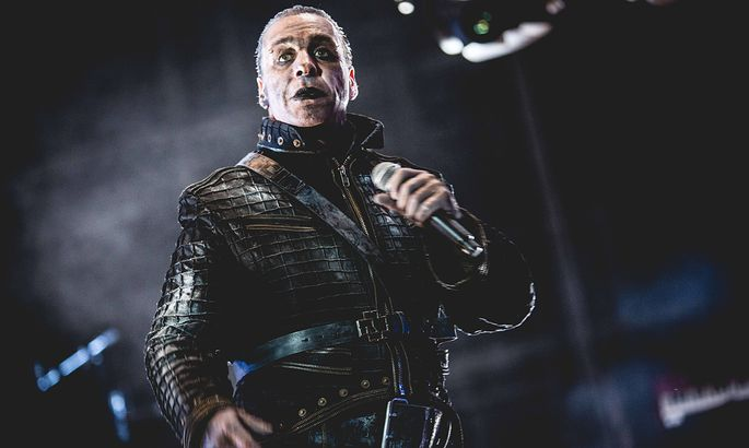 June 30 2017 Italia The singer Till Lindemann in concert with the Rammstein at the heavy metal