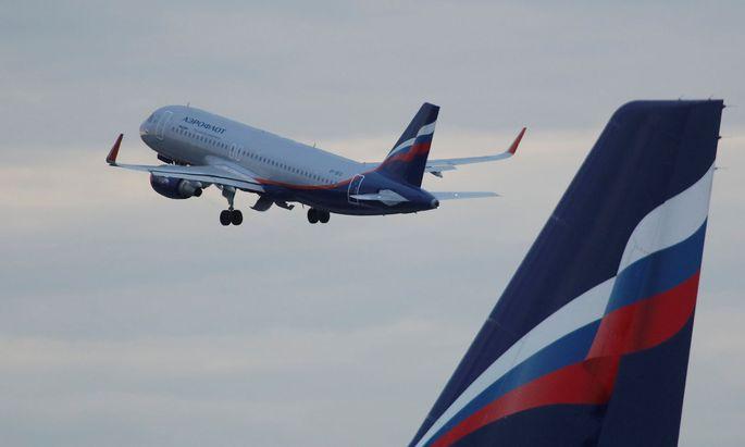 Russischer Aeroflot Airbus A320 hebt ab