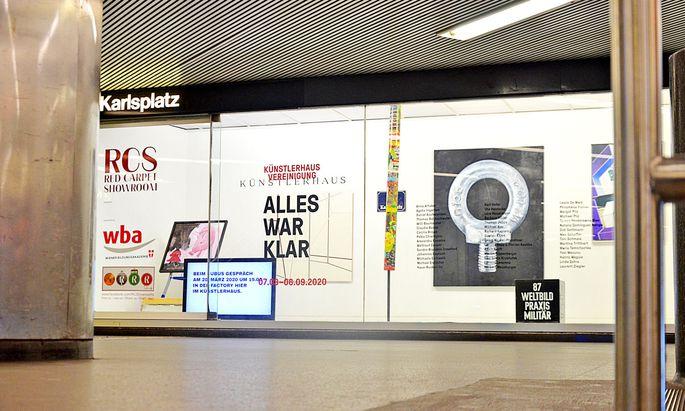 """Der Red Carpet Showroom am Karlsplatz ist derzeit noch vom Künstlerhaus-Verein belegt, die neue Ausstellung """"Blinde Passagiere"""" wartet aber schon."""