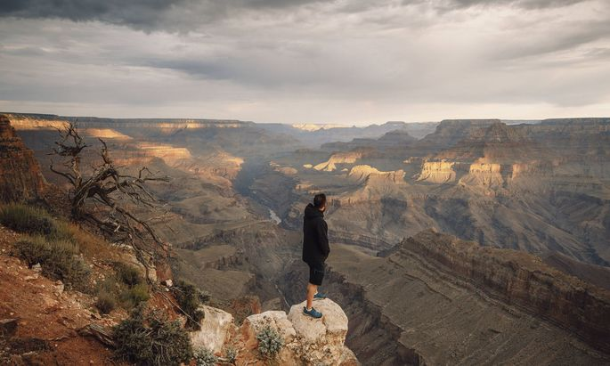 Der Blick auf den Grand Canyon.