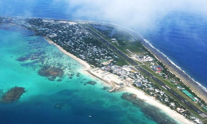 Im Inselstaaat Tuvalu liegt der höchste Punkt fünf Meter über dem Meeresspiegel.
