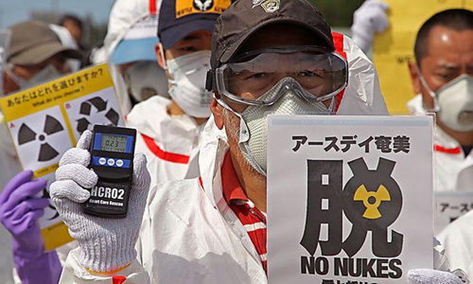 Demonstrationen gegen AKW drei Monate nach dem Super-GAU in Fukushima