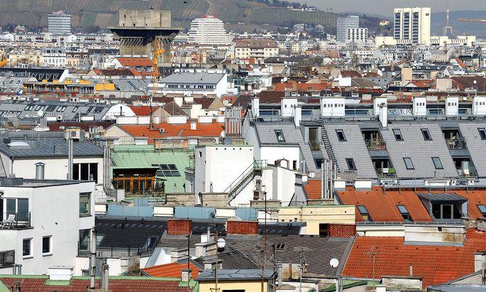 Wien Stadtansicht Dachlandschaft