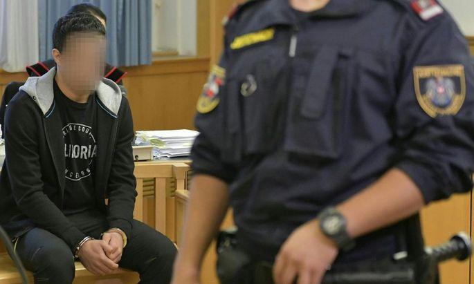 Der Angeklagte im September vor Gericht