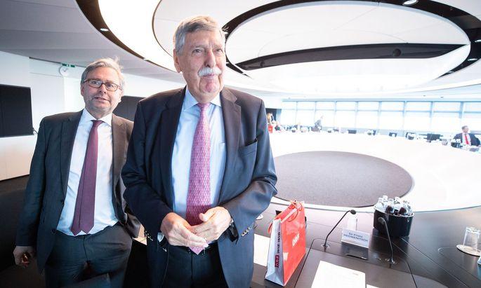 Bild von einer früheren Stiftungsratssitzung: Alexander Wrabetz und Norbert Steger.