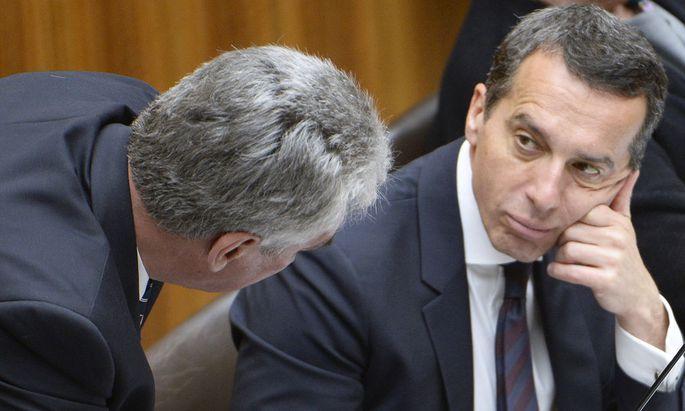 Finanzminister Schelling kritisiert Kanzler Kern.