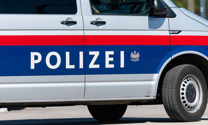 Vienna, Austria - June 18, 2020: Car of the Austrian police on a sunny day in summer Innere Stadt Austria