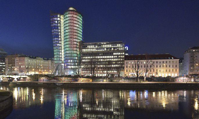 Der Uniqa-Tower in Wien