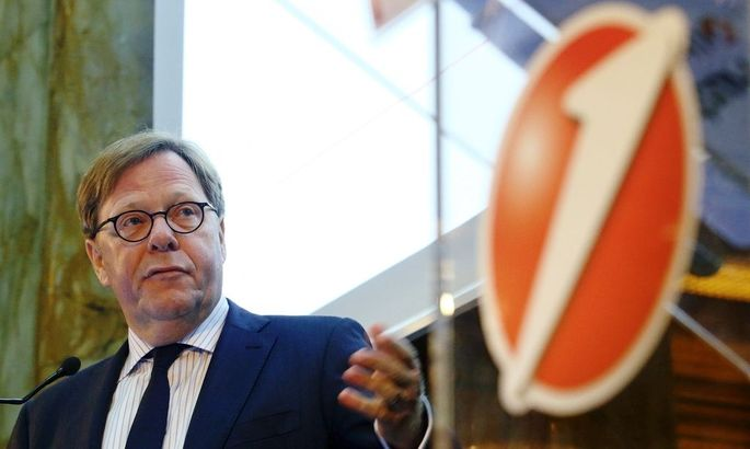 UniCredit unit Bank Austria Chief Executive Cernko addresses a news conference in Vienna