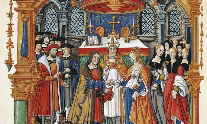 """""""Den wolle sie haben und keinen anderen"""": Die reiche und schöne Maria von Burgund heiratet in Gent am 19. August 1477 den Habsburger Maximilian."""