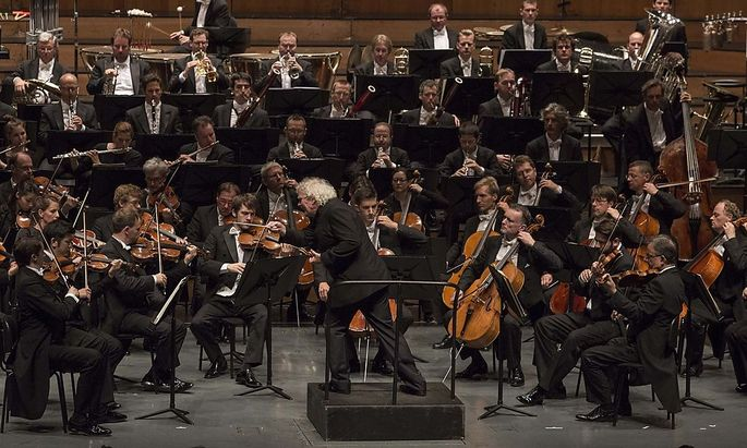 Fordernd: Sir Simon Rattle, Chefdirigfent der Berliner Philharmoniker