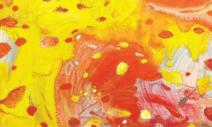"""In Nachlass-Kategorie B: Gunter Damischs """"Rotweltmorgen"""" (2004)."""
