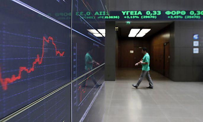 Symbolbild: Die Börse von Athen.