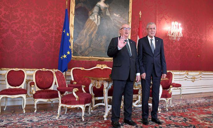 Jean-Claude Juncker und Van der Bellen.
