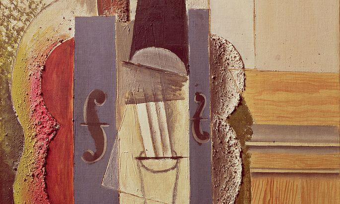 "Pablo Picassos ""Geige, an der Wand hängend"" (1913)."
