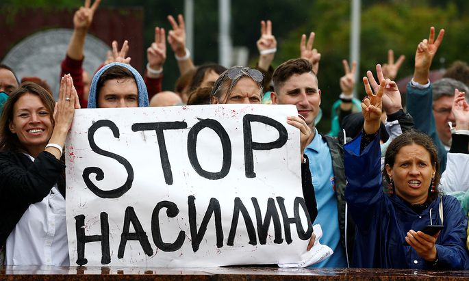 Die Proteste gegen Lukaschenko dauern an