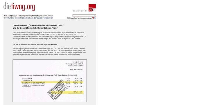 Screenshot der Recherche von Markus Wilhelm.