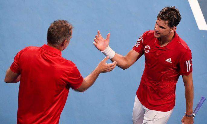 Thomas Muster wird auch nach dem ATP-Cup weiter mit Dominic Thiem zusammenarbeiten.