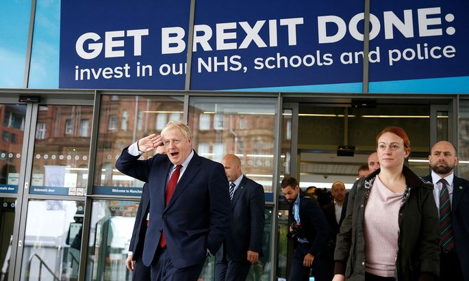 Brexit über alles: Premier Boris Johnson verspricht seinen konservativen Parteikollegen den raschen Austritt aus der EU.