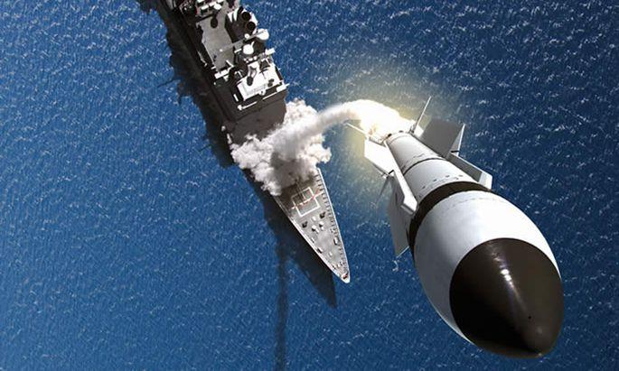Start einer Standard-Missile-3 von einem US-Kriegsschiff (Illustration)