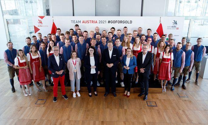 Das Team Österreich.