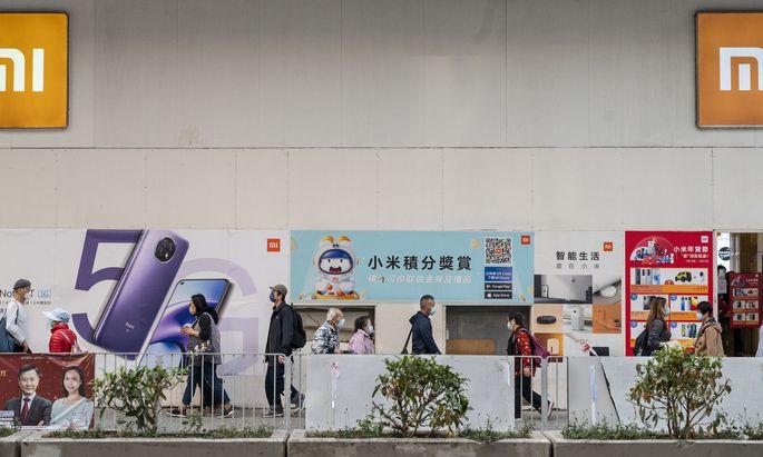 Im Xiaomi-Flagship-Store in Hongkong fehlen E-Autos noch.