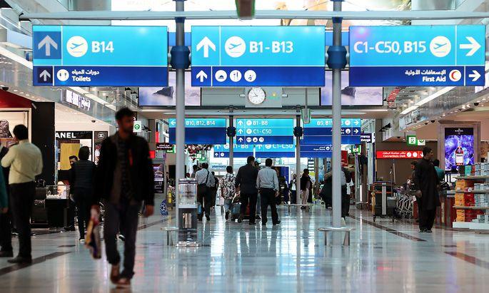 Archivbild eines Terminals am Flughafen Dubai.