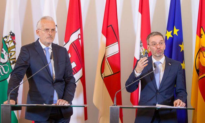 Justizminister Josef Moser (ÖVP) und Innenminister Herbert Kickl (FPÖ)