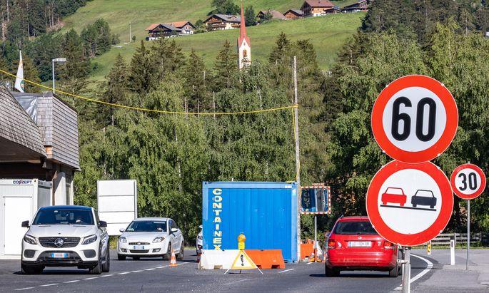 Der österreichisch/Italienische Grenzübergang Sillian/Arnbach