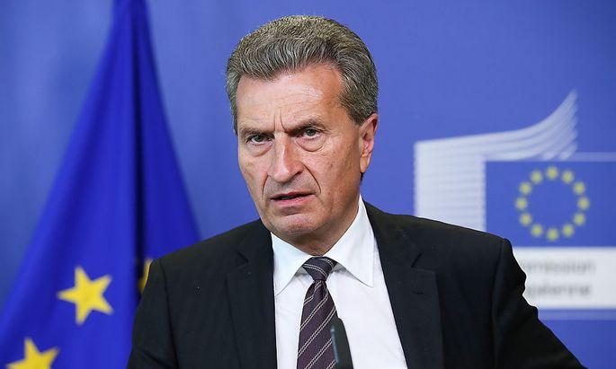 Der scheidende Energiekommissar Günther Oettinger.