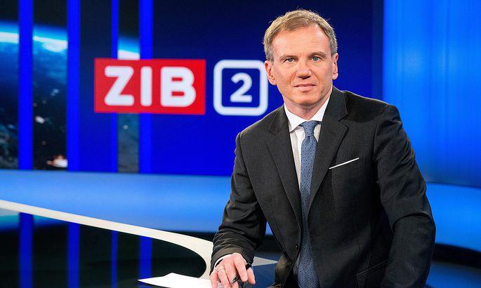 """Armin Wolf moderiert die """"ZiB 2"""""""