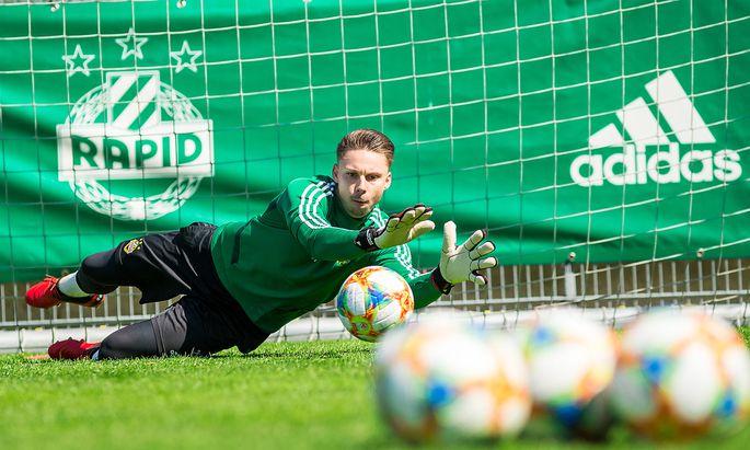 Training bei Rapid Wien, im Bild Tobias Knoflach