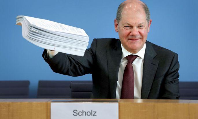 Deutschlands Finanzminister, Olaf Scholz (SPD), schnürte ein historisches Hilfspaket für die Wirtschaft.